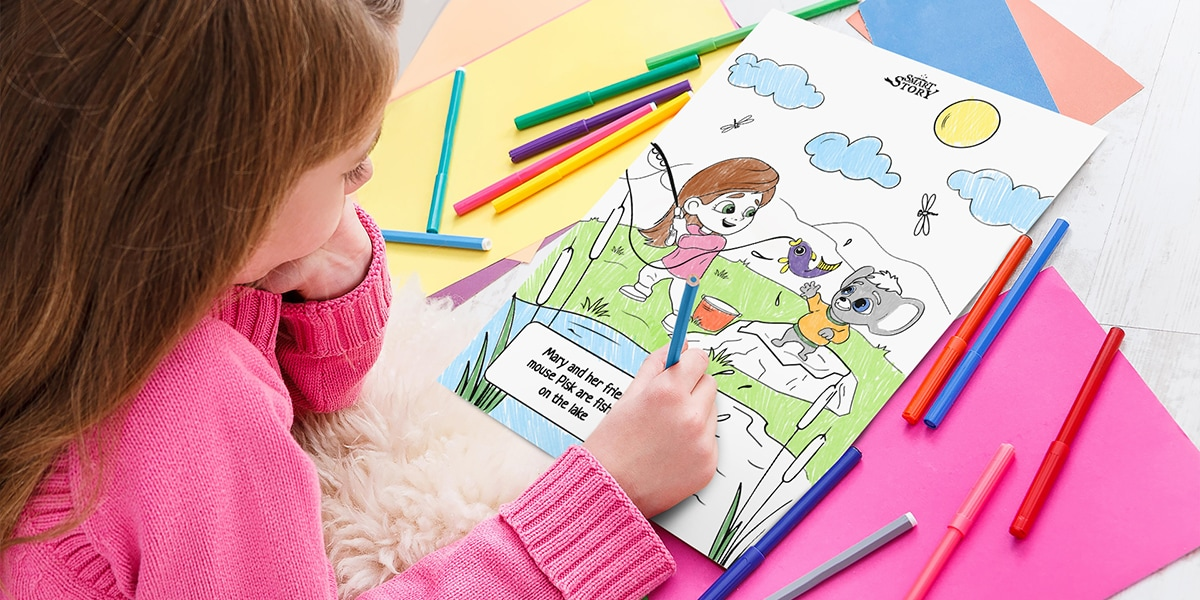 Free Personalized Coloring Book from Smart Story